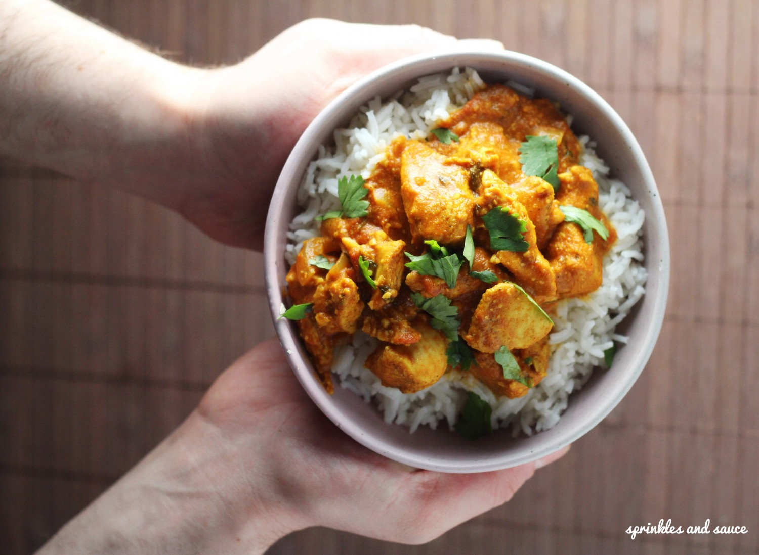 Chicken Curry with Cashews - sprinkles and sauce