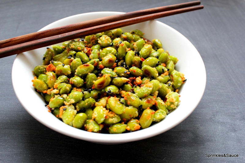 Garlic Parmesan Edamame with Toasted Black Sesame Seeds 1