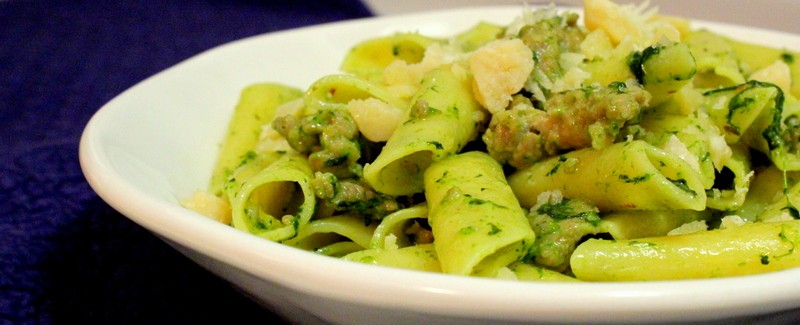 Penne with Sausage and Rapini