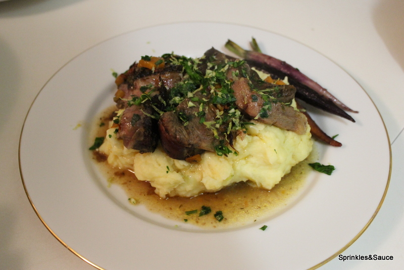 Osso Bucco with Tomotoes, Olive and Gremolata