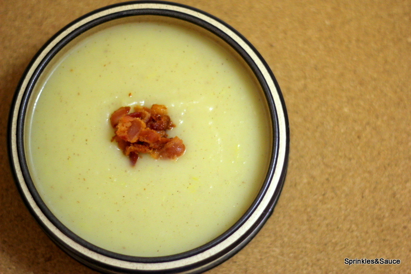 Potato and Leek Soup Topped with Crispy Bacon - sprinkles ...