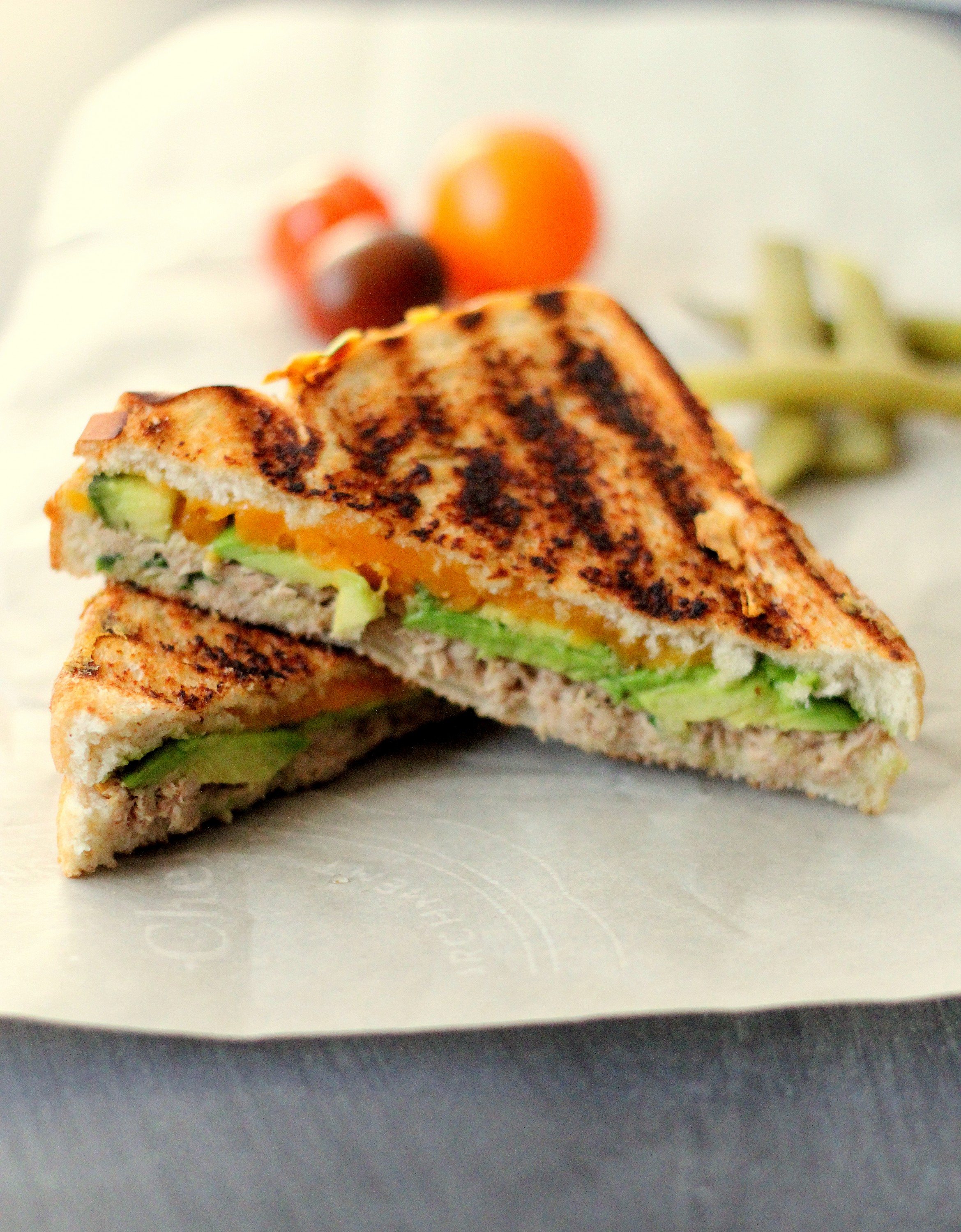 Grilled Tuna Avocado Melt