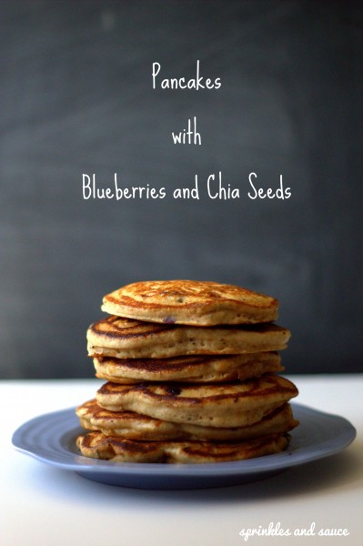 Pancakes with Blueberries and Chia Seeds
