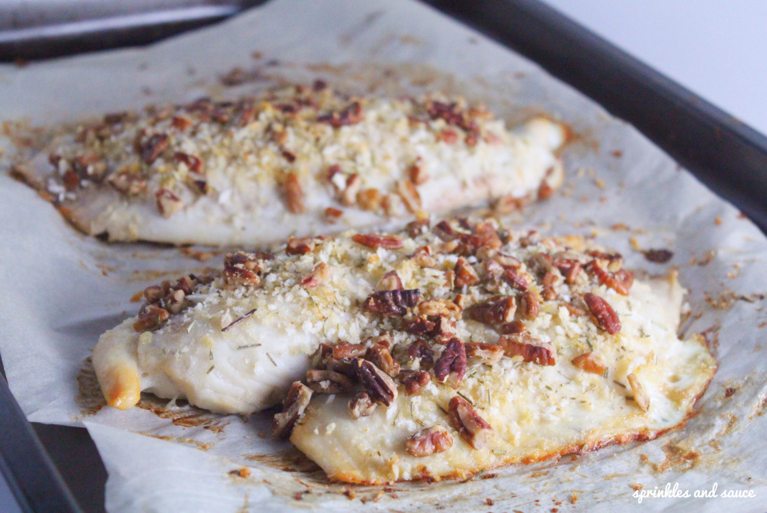 Baked Tilapia with Pecan Rosemary Topping2