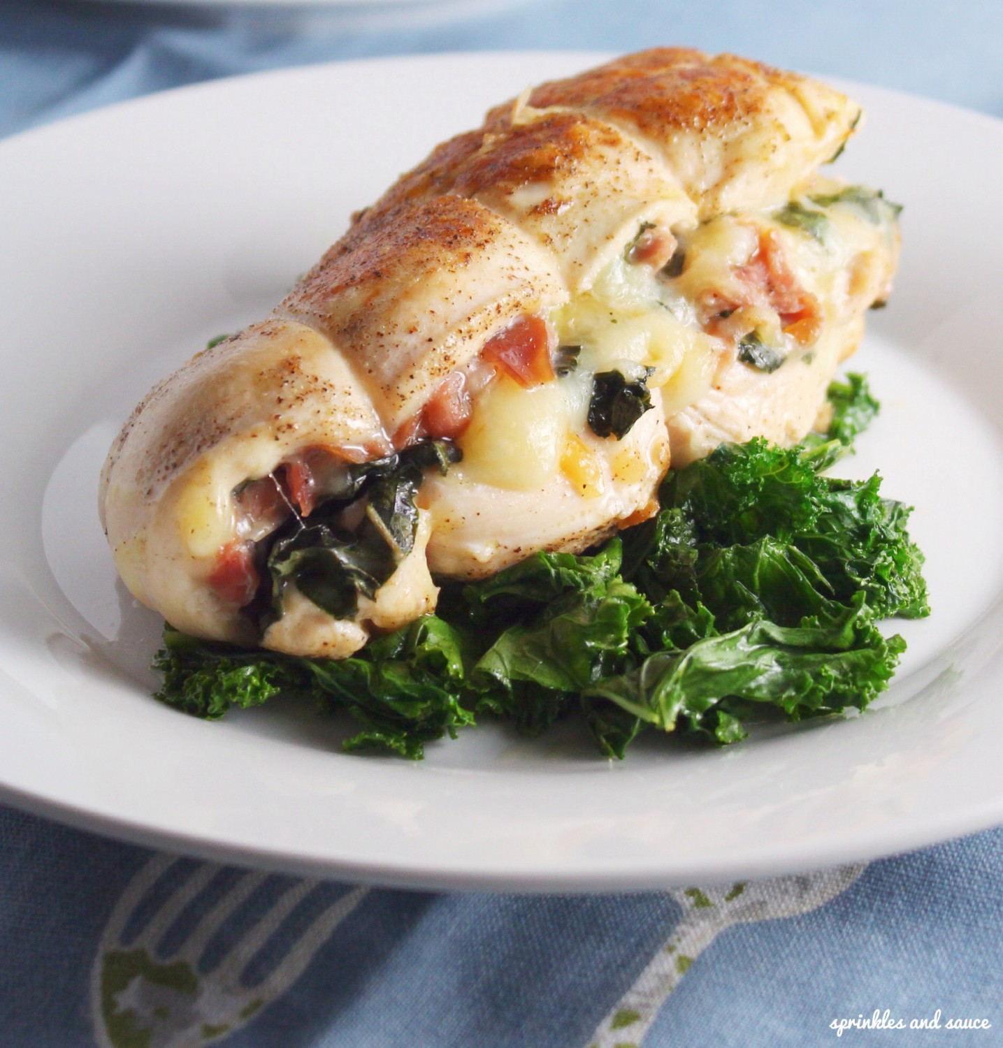 Stuffed Chicken with Proscuitto, Mozzarela and Basil1