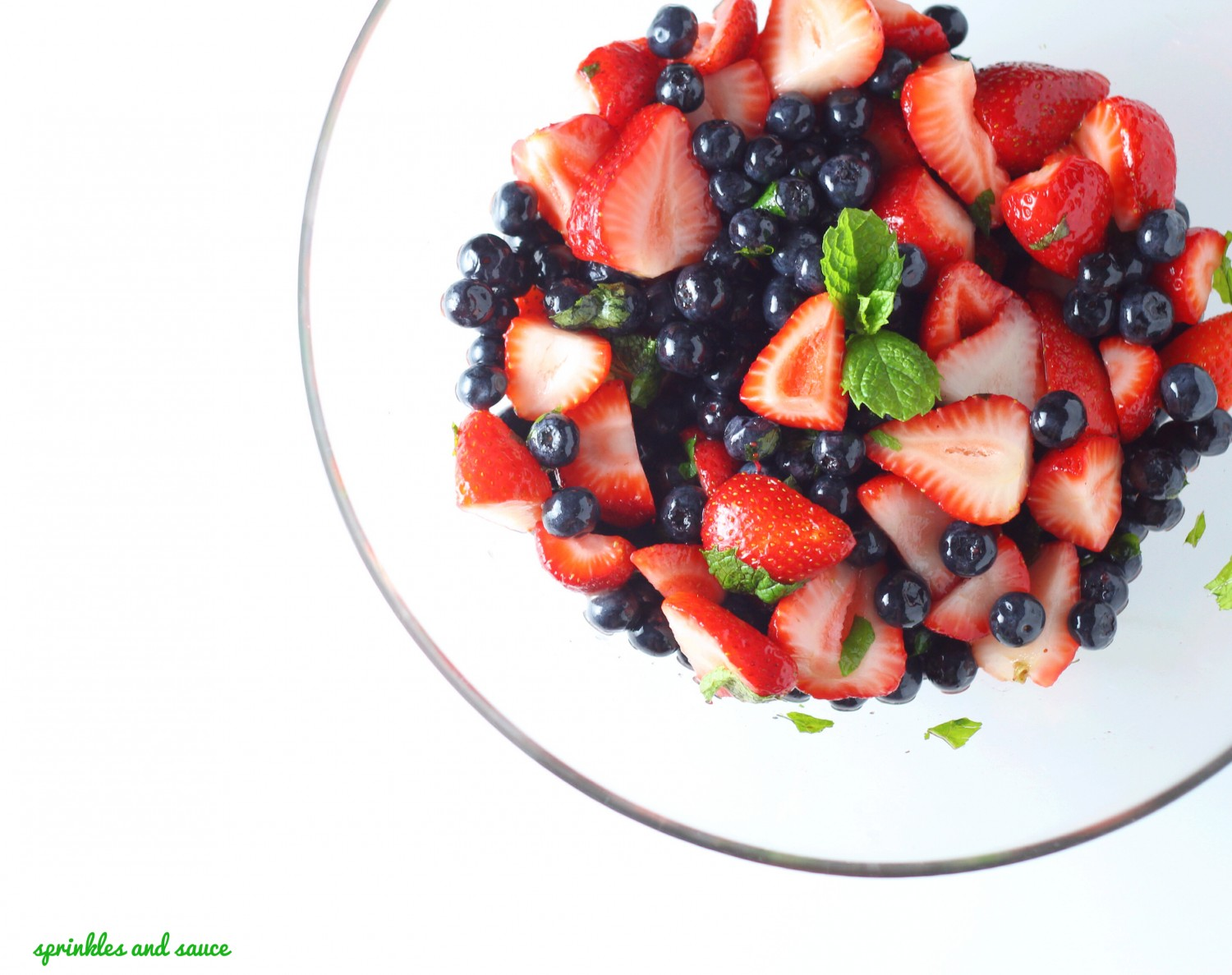 strawberry and blueberry fruit salad 1