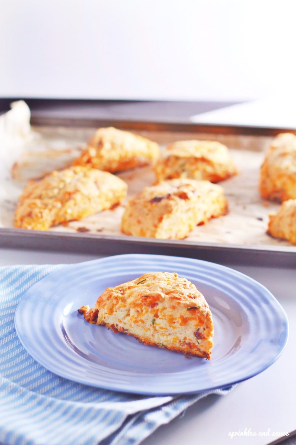 Bacon, Cheese and Chive Scones