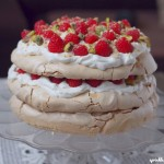 Three Layer Raspberry, Pistachio and Brown Sugar Pavlova