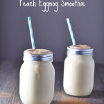 Peach Eggnog Smoothie