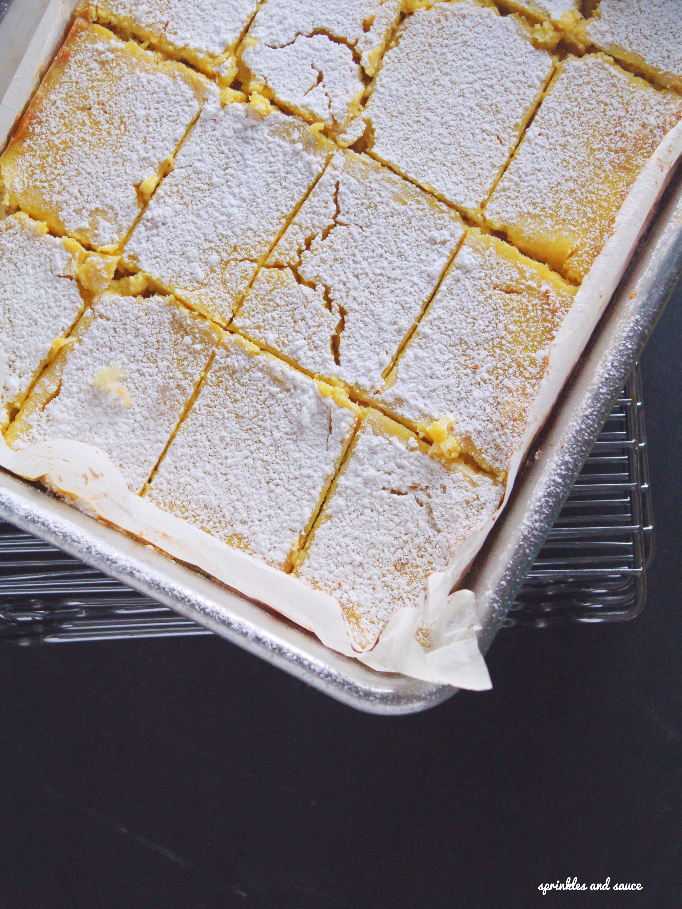 Gluten Free Coconut Lemon Bars - sprinkles and sauce