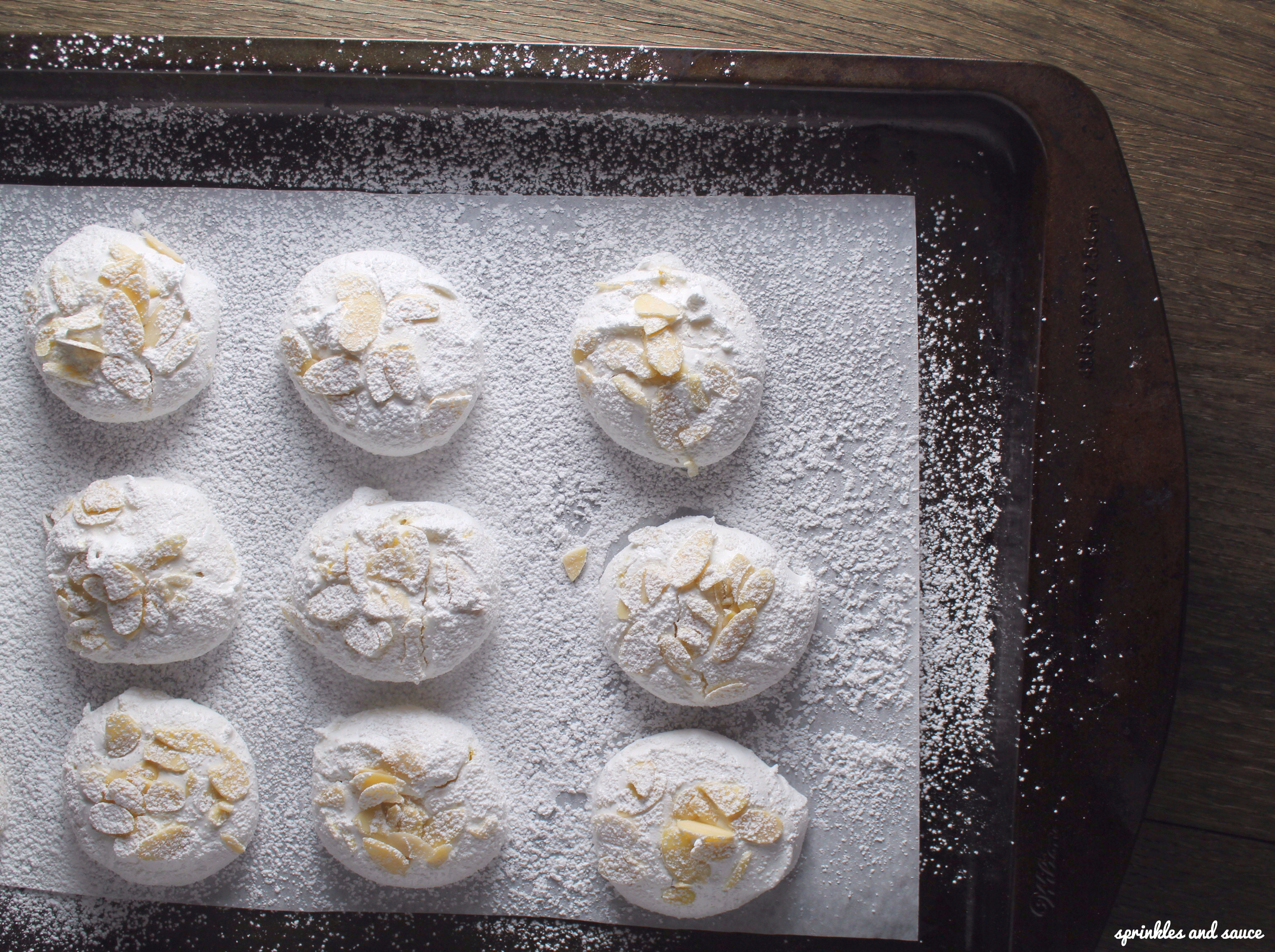 Lemon Almond Meringues