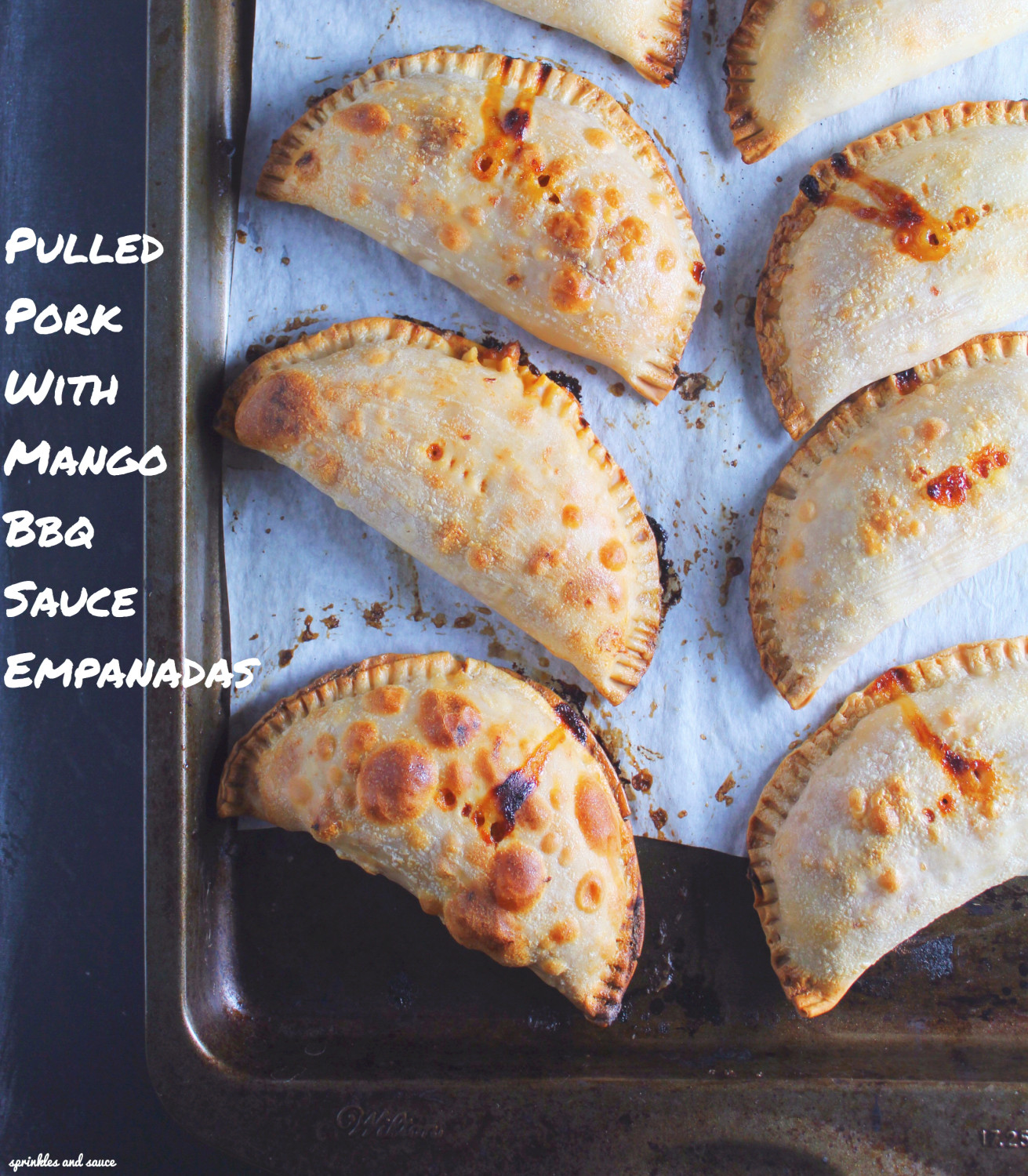 Pulled Pork with Mango Barbeque Sauce Empanadas - sprinkles and sauce