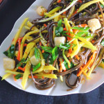 Soba Noodle Salad with Mango and Scallops
