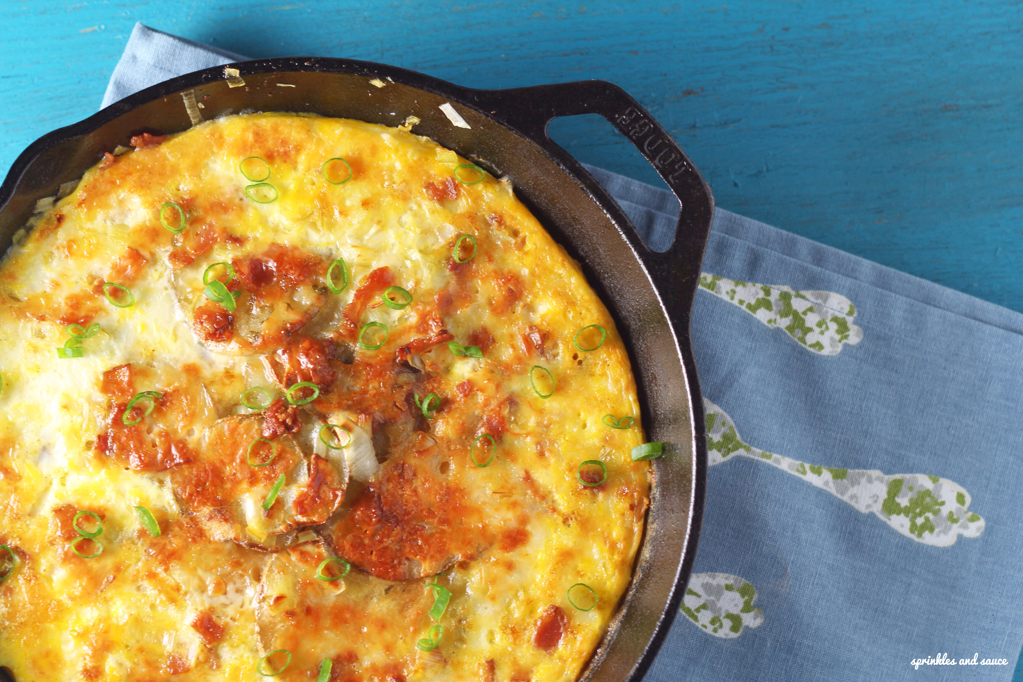 Bacon, Leek and Potato Frittata