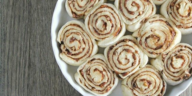 Easy Cinnamon Rolls with Pecans and Coffee Glaze